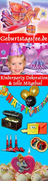 Geburtstagsfee.de - Kinderparty Dekoration & Mitgebsel
