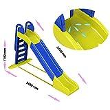 Doloni Große Kinderrutsche, Rutsche 240cm. (blau / gelb)