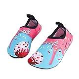 Kinder Badeschuhe Wasserschuhe Strandschuhe Schwimmschuhe Aquaschuhe Surfschuhe Barfuss Schuh für Jungen Mädchen Kleinkind Beach Pool(Rosa 20 21)