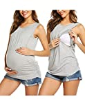 UNibelle Damen Stillshirt still Umstand top Shirt umstandstop Baumwolle