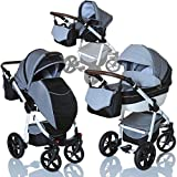 LCP Kids 3in1 Kombi Kinderwagen Lucato Luftreifen Komfort mit Pannenfrei Garantie
