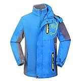Juleya 3 in 1 Kinder Jacke mit Abnehmbarem Fleece Wasserdicht Sport Mantel Outdoor Regenmantel für Jungen Mädchen