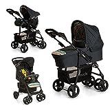 Hauck Shopper SLX Trio Set/Kombi 3 in 1 Kinderwagen/Babyschale/Sportwagen, Gr. 0, Babywanne mit Matratze, bis 25 kg, Liegefunktion, Getränkehalter, leicht, klein faltbar