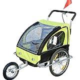 2in1 Jogger Kinderanhänger Fahrradanhänger Kinder Radanhänger 5 Farben zur Auswahl Neu (Weiß-schwarz)