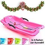 Turbo Slign Schlitten mit Bremsen Kunststoff-rodel für Kinder/Kleinkinder/Erwachsene hochwertige Qualität (pink)
