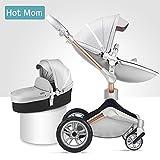 Hot Mom Kombikinderwagen mit Buggy und Babywanne 2018 neues Design