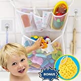 Wemk Bad Spielzeug Organizer Bad Spielzeug Netz Badewanne Spielzeugnetz mit 4 Klebehaken & Bad Ball