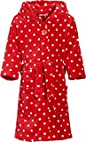 Playshoes Mädchen Bademantel Fleece Punkte, Rot (original 900), 134 (134/140)