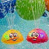 Schwimmende Badespielzeug FüR Babys,Womdee Pool Spielzeug Kinder Mit Licht,Kann Schweben Und Sich Mit Brunnen Drehen, Badewanne-Dusche-Pool Badezimmer-Spielzeug FüR Babys Kleinkinder Kinder-Party
