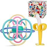 ANGELBLISS beißring für babys kühlend,Lernspielzeug, Kleinkinder beissring für zum zahnen,Natürlicher Kühlbeißring,Von der FDA zugelassene Beißring Spielzeug- 2 Stück