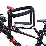 Teakpeak Fahrradsitz Vorne für Kinder, Kindersitz Vorne für Fahrrad mit Handlauf Rückenlehne und Stützpunkt, Kindersitz ab 3 Jahre, Lager -50kg