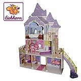 Eichhorn Großes Puppenhaus, Puppen-Villa passend für 29 cm Puppen, inklusive Möbel, Unmontiert, ohne Puppe, geeignet für Kinder ab 3 Jahren, 27,5 x 97 x 146 cm