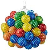 100 Stück bunte Bälle für Kinder, Babys und Tiere , 55mm Durchmesser Kinder ab 0