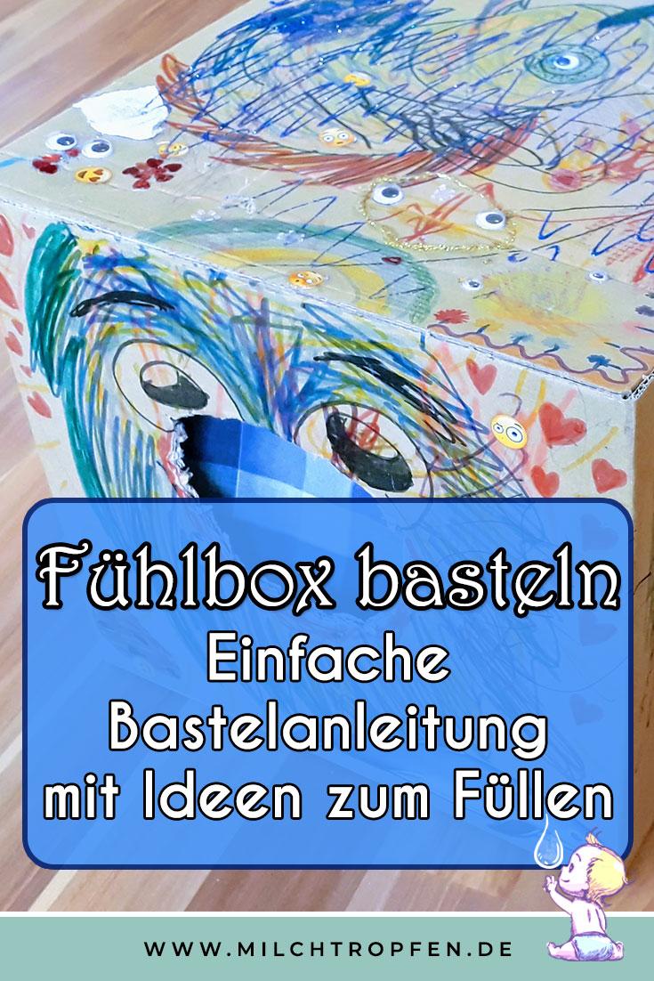 Fühlbox basteln - Einfache Bastelanleitung mit Ideen zum Füllen | Mehr Infos auf www.milchtropfen.de