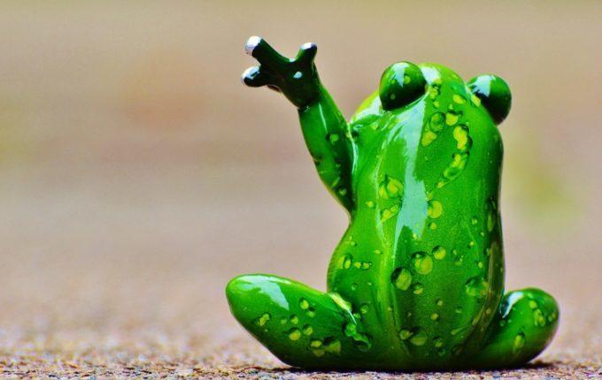Babyschwimmen - 8. Tag - Frosch winkt zum Abschied