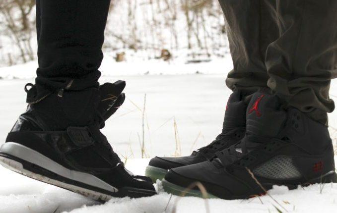 Einmal Norovirus, bitte! - Schuhe im Schnee
