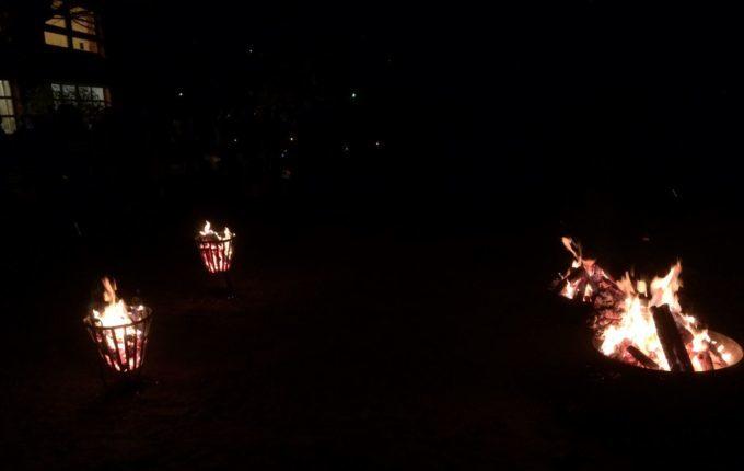 Laternenumzug mit der Kita - Lagerfeuer