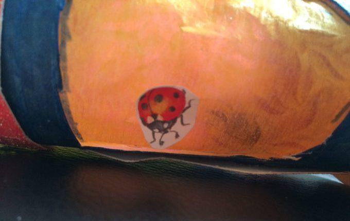 Laternenumzug mit der Kita - Mariechenkäferaufkleber