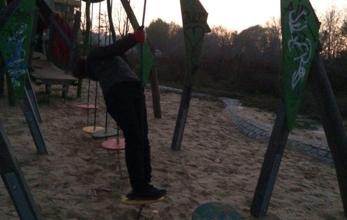 Spielplatz in der Zossener Straße - Parcours