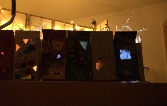 Adventskalender basteln - Kalender im Dunkeln