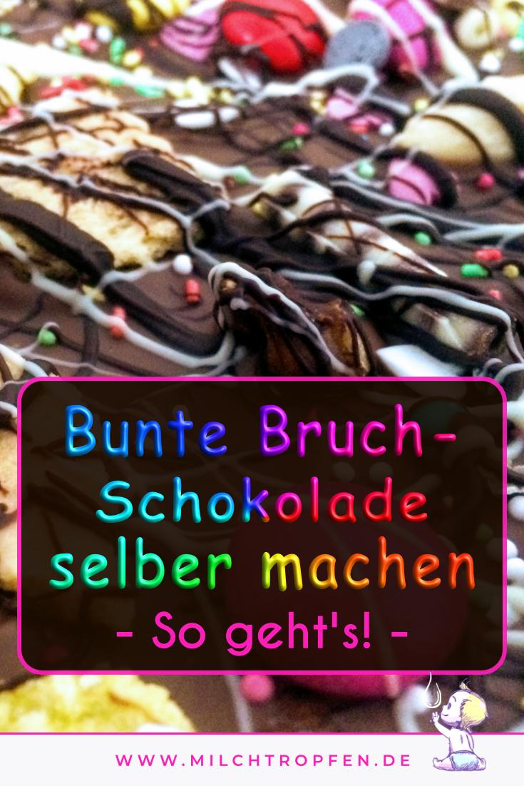 Bunte Bruchschokolade selber machen - So geht's | Mehr Infos auf www.milchtropfen.de