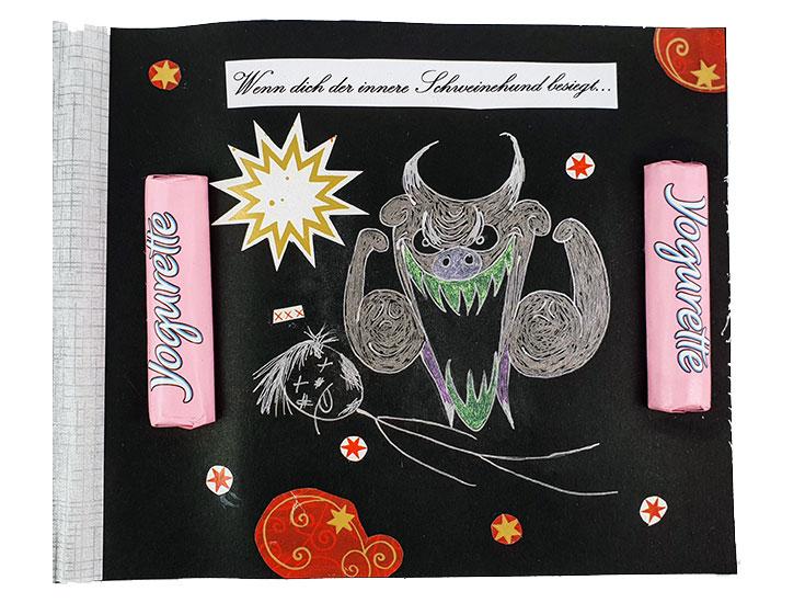 Wenn Buch Spruch: Wenn dich der innere Schweinehund besiegt... | Noch mehr Sprüche findest du auf www.milchtropfen.de