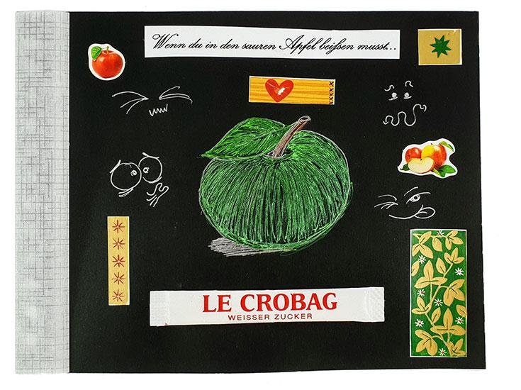 Wenn Buch Spruch: Wenn du in den sauren Apfel beißen musst... | Noch mehr Sprüche findest du auf www.milchtropfen.de