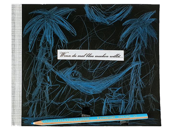 Wenn Buch Spruch: Wenn du mal blau machen willst... | Noch mehr Sprüche findest du auf www.milchtropfen.de
