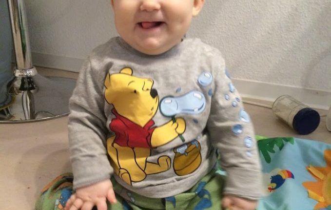 Mein schönster Moment mit Kind, Baby - Blogparade - Kind sitzt