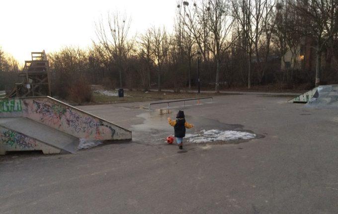 Abenteuerspielplatz im Libertypark - Halfpipes und Quarterpipes
