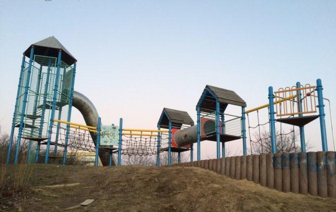 Abenteuerspielplatz im Libertypark - Klettergerüst