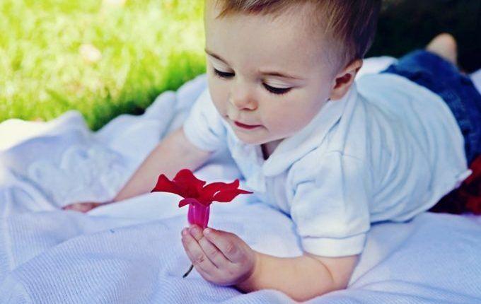 Wie unser Kind lernt - Kind hält Blume