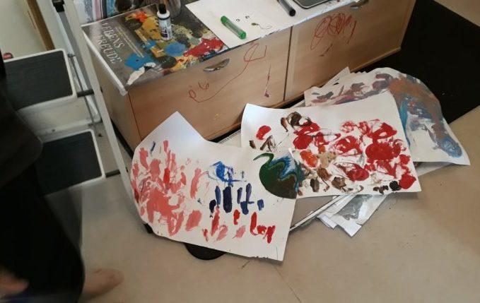 12 von 12 - April 2017 - gemalte Bilder