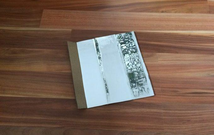 Kaleidoskop - 3 Seiten Karton für das Prisma mit Spiegelfolie