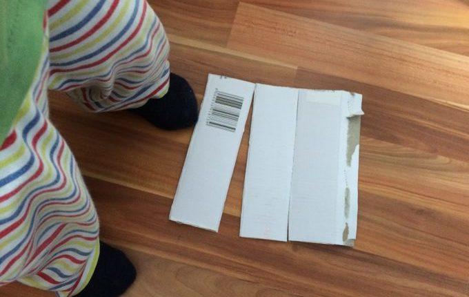 Kaleidoskop - 3 Seiten Karton für das Prisma