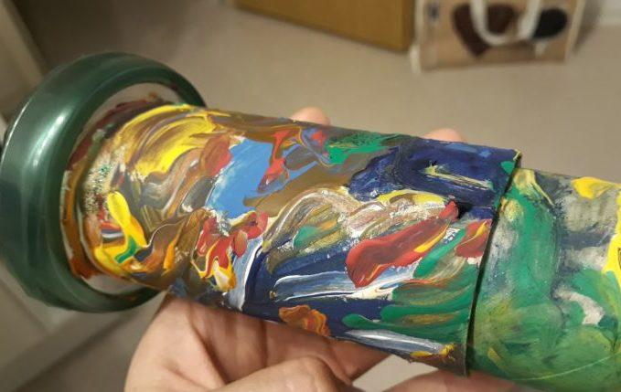Kaleidoskop - mit Acrylfarben bemalt
