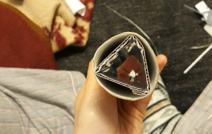 Kaleidoskop - Prisma in Küchenrolle