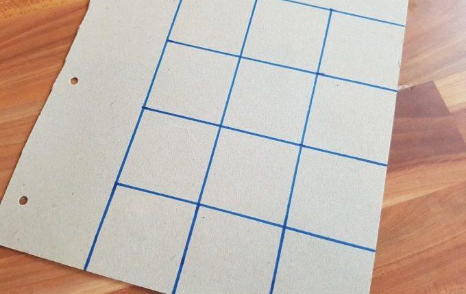 Memory Karten auf Pappe gezeichnet