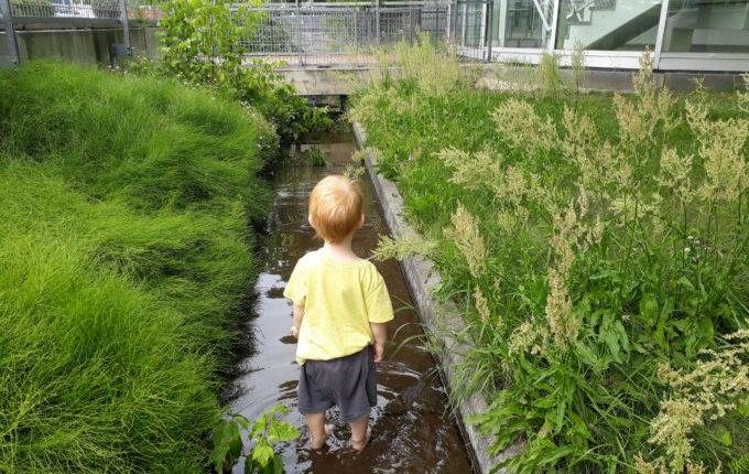 Kind steht im Kanal im Wasser.jpg