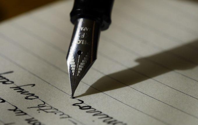 schreibender Füller