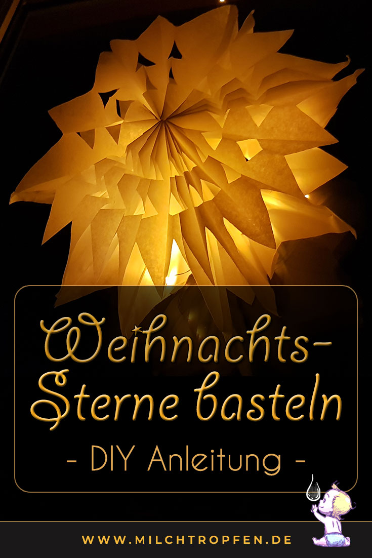 Weihnachtssterne basteln - DIY Anleitung | Mehr Infos auf www.milchtropfen.de