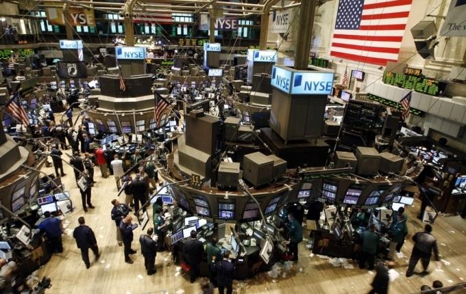 Menschen an der Börse