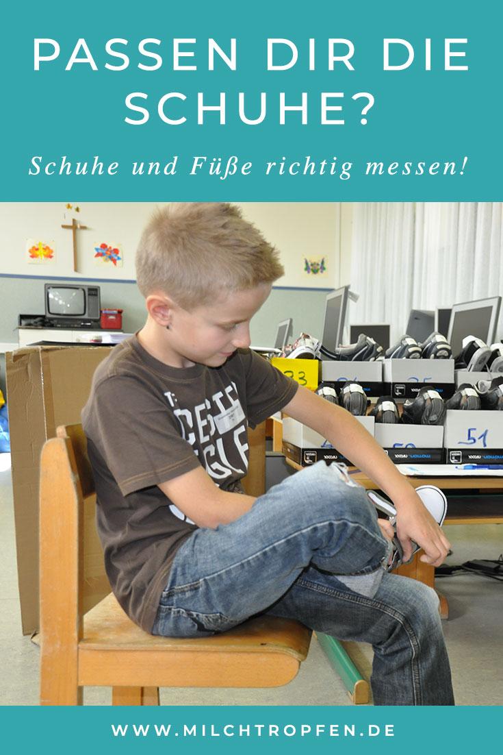 Passen dir die Schuhe? Schuhe und Füße richtig messen! | Mehr Infos auf www.milchtropfen.de