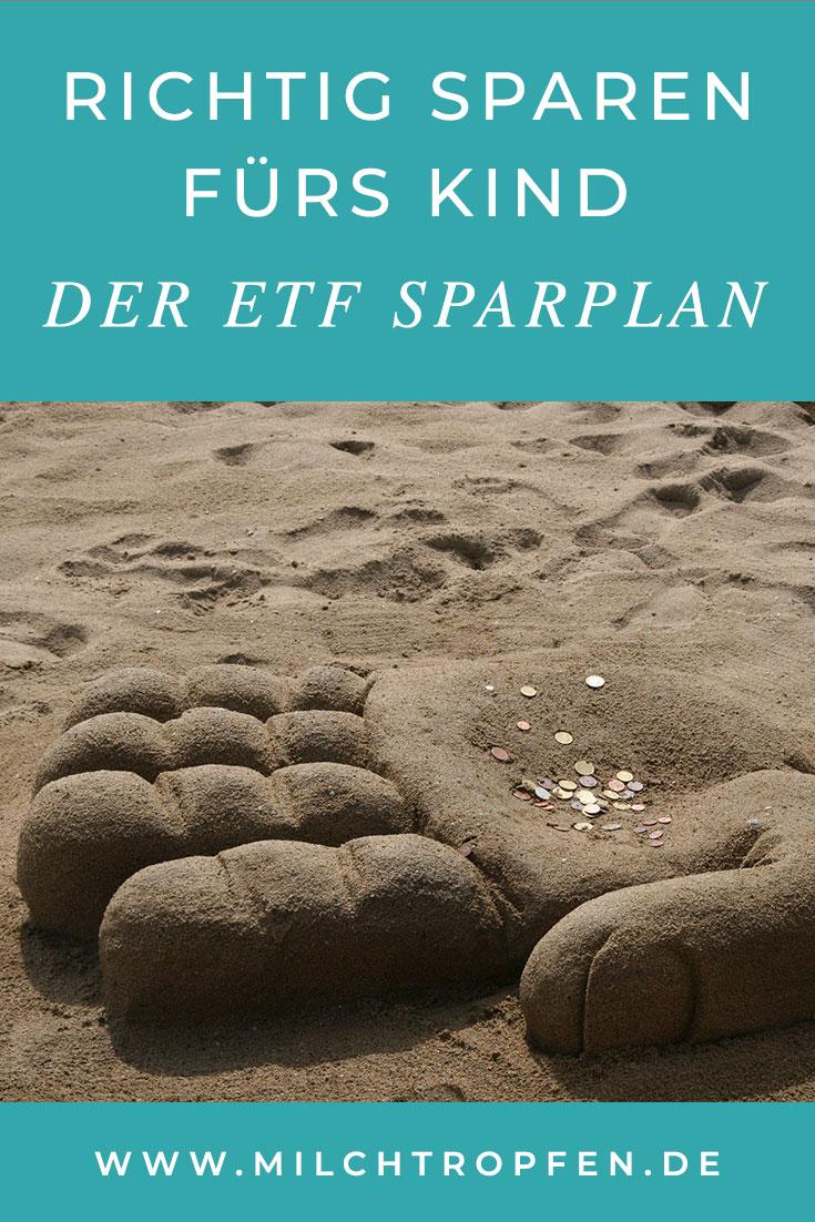 Richtig sparen fürs Kind: Der ETF Sparplan | Mehr Infos auf www.milchtropfen.de