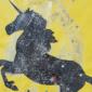 Einhorn Glitzerbild basteln