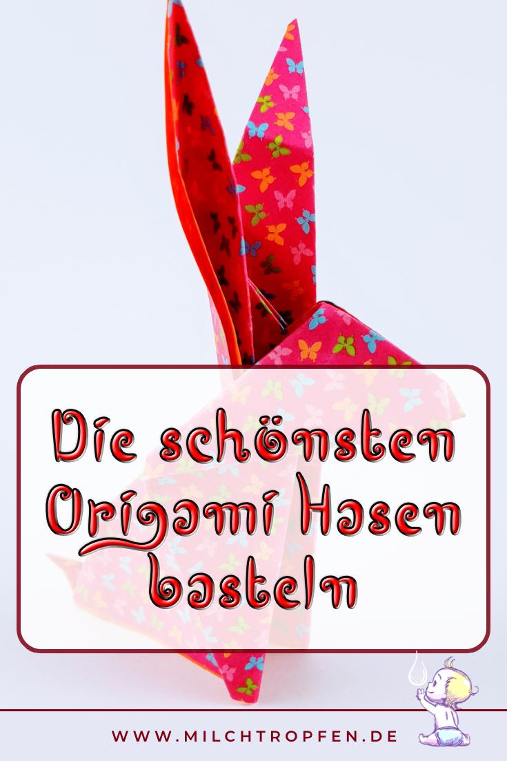 Bastel die schönsten Origami Hasen | Mehr Infos auf www.milchtropfen.de
