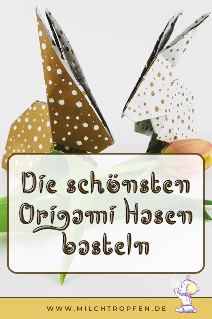 Die schönsten Origami Hasen basteln | Mehr Infos auf www.milchtropfen.de