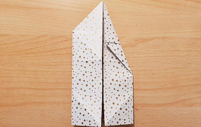 Origami Hase bekommt spitzere Ohren