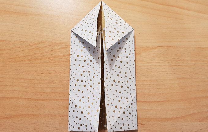 Origami Osterhase um 180° gedreht