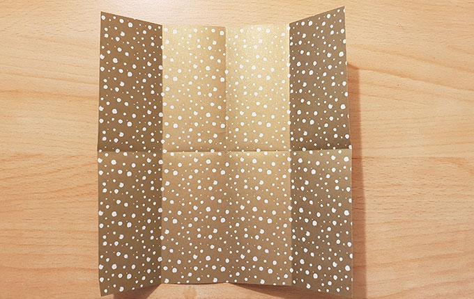 Origamipapier geachtelt
